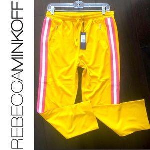 REBECCA MINKOFF Jolie Pant Yellow Multi Stripe XS!